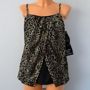 Miraclesuit Purr-Fection Jubilee Tankini Top NWT